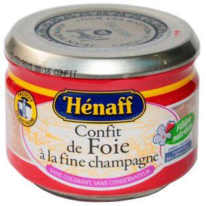 Паштет Henaff печеночный деликатесный с коньяком 180 г.