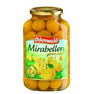 Сливы желтые Мирабелла Odenwald с косточкой в сиропе, 720 мл.