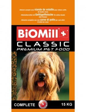 Biomill Classic Complete Полноценный корм Биомилл для взрослых собак всех пород от 10 мес., 15 кг.