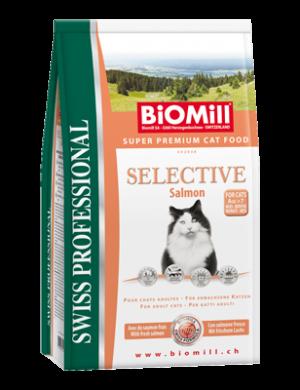 Biomill Selective Salmon Корм Биомилл для взрослых привередливых кошек (с норвежским лососем, индейкой и курицей) для возбуждения аппетита, 10 кг