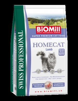 Biomill Homecat Корм Биомилл для взрослых кошек с чувствительным пищеварением и склонности к аллергии (с ягненком), 10 кг