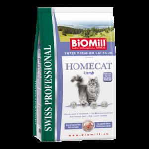 Biomill Homecat Корм Биомилл для взрослых кошек с чувствительным пищеварением и склонности к аллергии (с ягненком), 1,5 кг