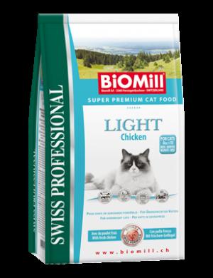 Biomill Light Корм Биомилл для кошек с избыточным весом, профилактика ожирения, 1,5 кг