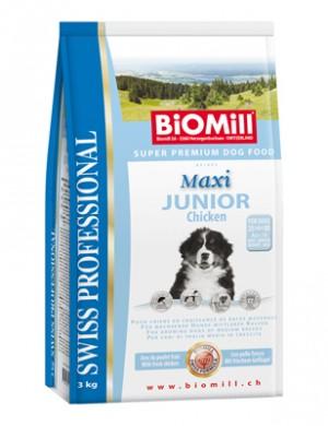 Biomill Maxi Junior Корм Биомилл для щенков крупных пород, 3 кг.