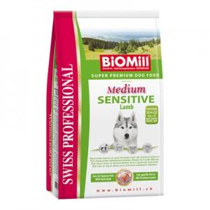 Biomill Medium Sensitive Lamb and Rice Корм Биомилл для привередливых и проблемных собак, 3 кг.