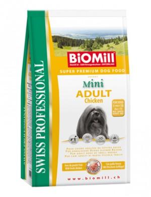Biomill Mini Adult Корм Биомилл для взрослых собак мелких и карликовых пород, 3 кг.