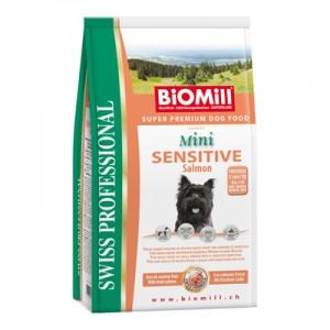 Biomill Mini Sensitive Salmon and Rice Корм Биомилл для привередливых и проблемных собак мелких и карликовых пород, 3 кг.