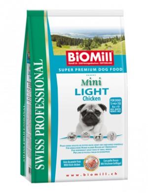 Biomill Mini Light Корм Биомилл для взрослых собак с избыточным весом, 3 кг.
