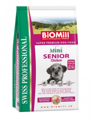 Biomill Mini Senior Корм Биомилл для взрослых собак старше 6 лет, 3 кг.