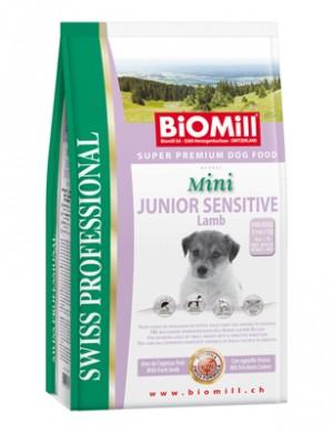 Biomill Mini Junior Sensitive Lamb and Rice Корм Биомилл для привередливых и проблемных щенков мелких и карликовых пород, 1 кг.