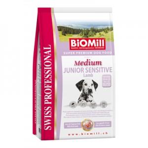 Biomill Medium Junior Sensitive Lamb and Rice Корм Биомилл для привередливых и проблемных щенков крупных и средних пород (с ягненком), 12 кг.