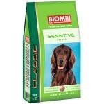 Biomill Classic Sensitive Полноценный корм для взрослых собак всех пород от 10 мес. с ягненком, 15 кг.