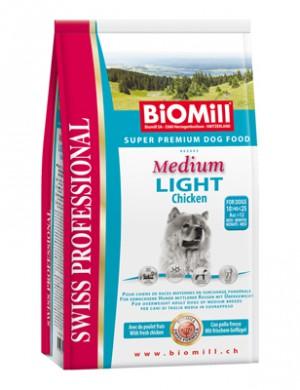 Biomill Swiss Professional Medium Light Корм Биомилл для собак с избыточным весом, 3 кг.