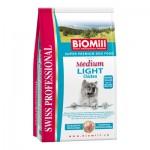 Biomill Swiss Professional Medium Light Корм Биомилл для собак с избыточным весом, 12 кг.