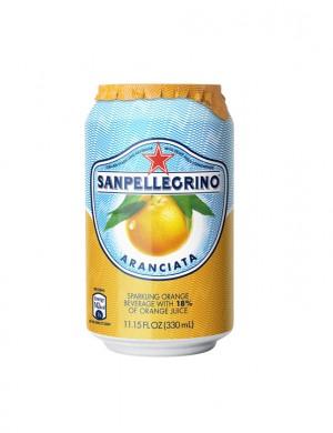 S.Pellegrino апельсин 0,33 л (упаковка 6 банок)