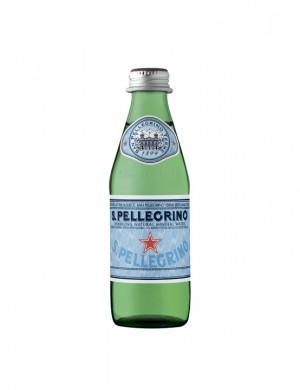 Минеральная вода San Pellegrino газированная 0,25 л (стекло), (упаковка 6 бутылок)