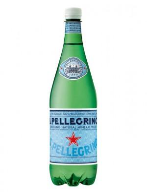Минеральная вода San Pellegrino газированная 1 л (упаковка 6 бутылок)