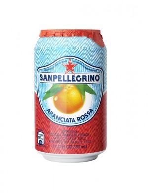 S.Pellegrino красный апельсин 0,33 л (упаковка 6 банок)