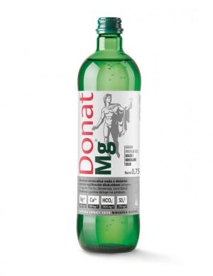 Минеральная природная питьевая лечебная вода Donat Mg, 0,75л., стекло (упаковка 6 бутылок)