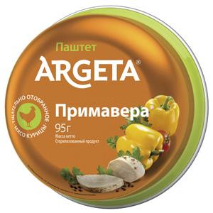 Куриный паштет с овощами Примавера Argeta, 95 г