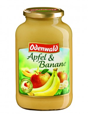 Яблочно - банановый мусс Odenwald, 720 мл.
