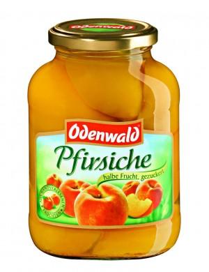 Персики половинки Odenwald в сиропе, 580 мл.
