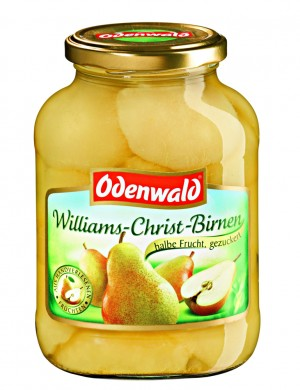 Груши Вильямс - Крист Odenwald половинки в сиропе, 580 мл.