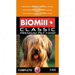 Biomill Classic Complete Полноценный корм Биомилл для взрослых собак всех пород от 10 мес., 3 кг.