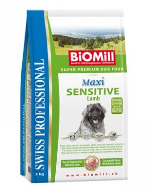 Biomill Maxi Sensitive Lamb and Rice Корм Биомилл для привередливых и проблемных собак (с ягненком), 3 кг.