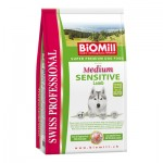 Biomill Medium Sensitive Lamb and Rice Корм Биомилл для привередливых и проблемных собак, 12 кг.