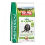 Biomill Mini Sensitive Lamb and Rice Корм Биомилл для привередливых и проблемных собак мелких и карликовых пород, 3 кг.