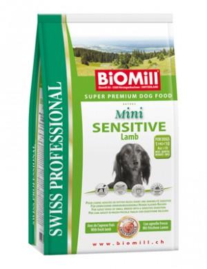 Biomill Mini Sensitive Lamb and Rice Корм Биомилл для привередливых и проблемных собак мелких и карликовых пород, 8 кг.