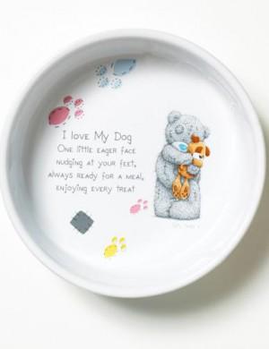Керамическая миска для собак Me to you