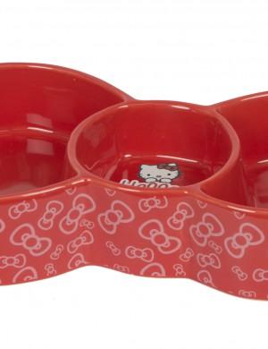 Керамическая миска для кошки Hello Kitty с тремя секциями
