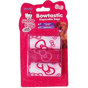 Мешки Hello Kitty для сбора фекалий, 3 рулона по 15 шт.