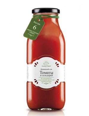 """Овощной сок «Томаты и сельдерей» восстановленный """"Granny's Secret"""", 700 мл."""